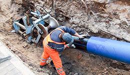 Wymiana sieci wodociągowej metodą bezwykopową ul. Pereca, Zamość
