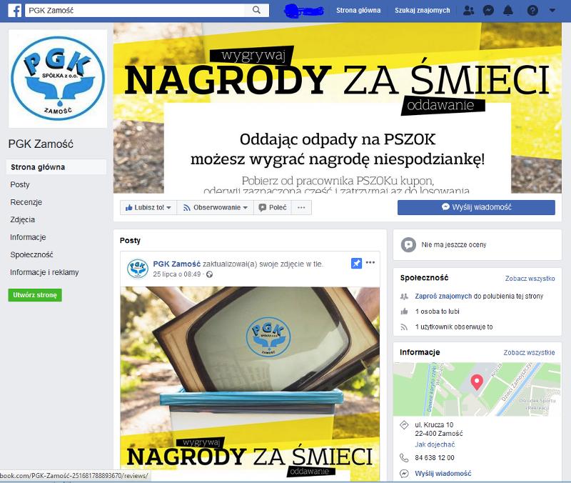 PGK na Facebook'u