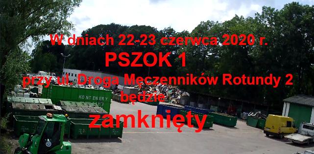 Czasowe zamknięcie PSZOK przy ul. M.Rotundy 2